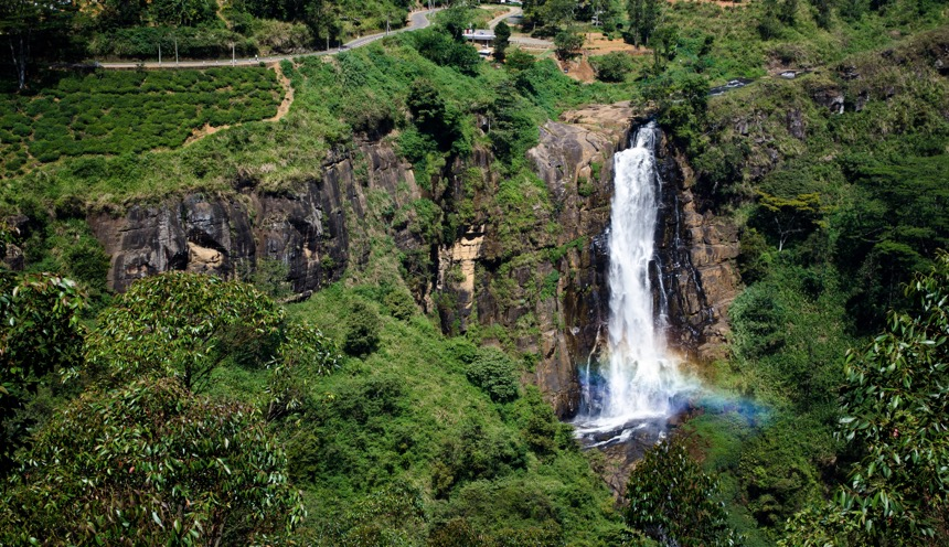 Devon Falls is a waterfall in Sri Lanka, Sri Lanka