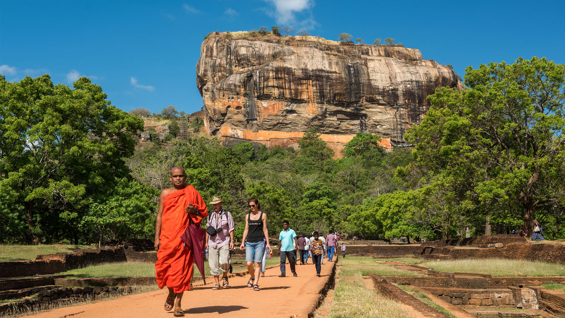 Sigiriya-lion-rock-fortress,-Sri-lanka