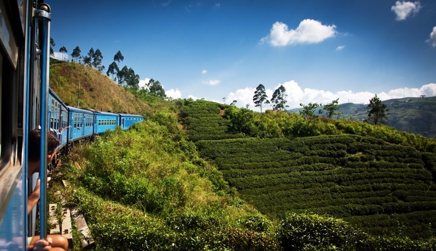 Train from Nuwara Eliya to Kandy