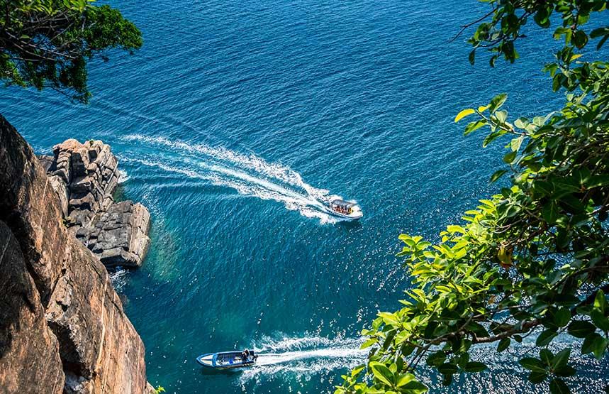 Boats In The Beautiful Ocean Trincomalee_sri_lanka